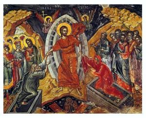 Jezus nedergedaald ter helle