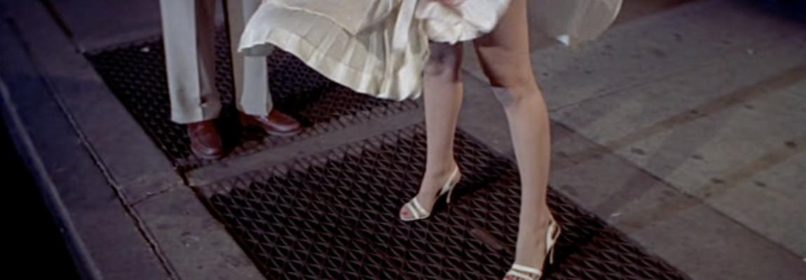 De rok van Marylin Monroe waait omhoog