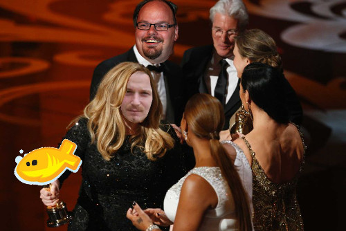100% echte foto van de Webfish Awards 2012