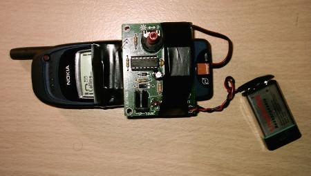 Telefoon met afluisterapparatuur