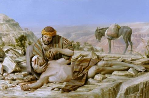 Schilderij van de barmhartige Samaritaan