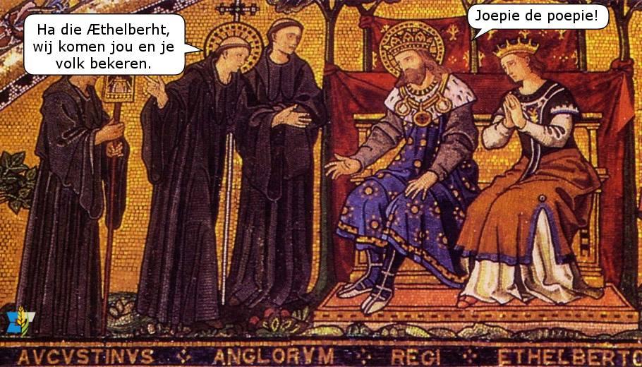 Augustinus van Canterbury was best goed in het katholiek maken van Engeland. Misschien moeten we hem nog eens sturen.