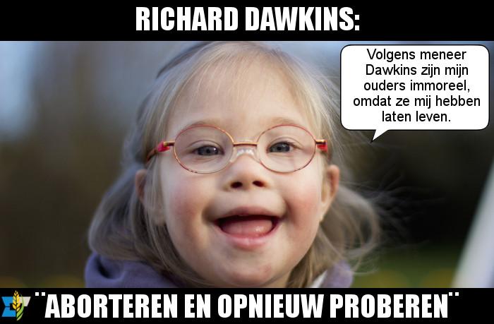 Volgens recent commentaar van Richard Dawkins is het immoreel om kinderen met downsyndroom op de wereld te zetten.