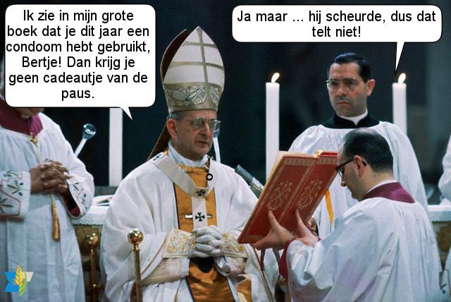 De zalige paus Paulus VI wordt vaak in een adem genoemd met zijn encycliek Humanae Vitae. Bertje heeft inmiddels honderd kleinkinderen die elk jaar een cadeautje voor hem kopen.