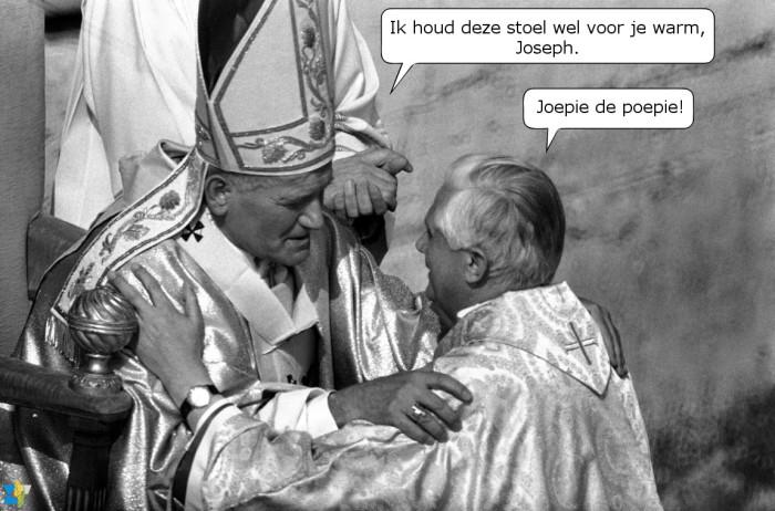 Kardinaal Ratzinger bij de inauguratie van paus Johannes Paulus II op 22 oktober 1978.
