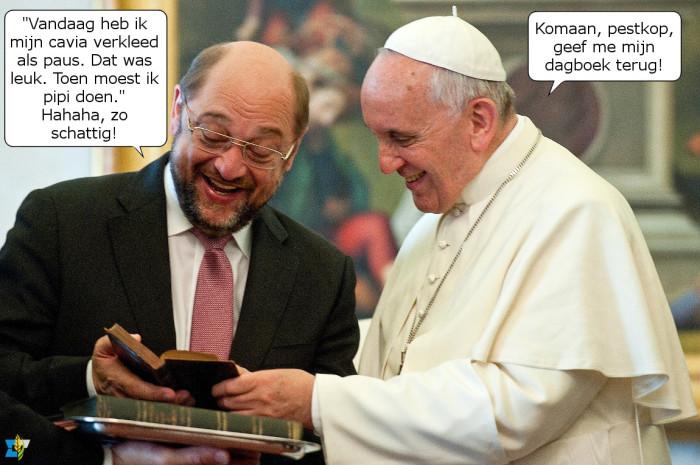 Martin Schulz kan soms zo gemeen zijn.