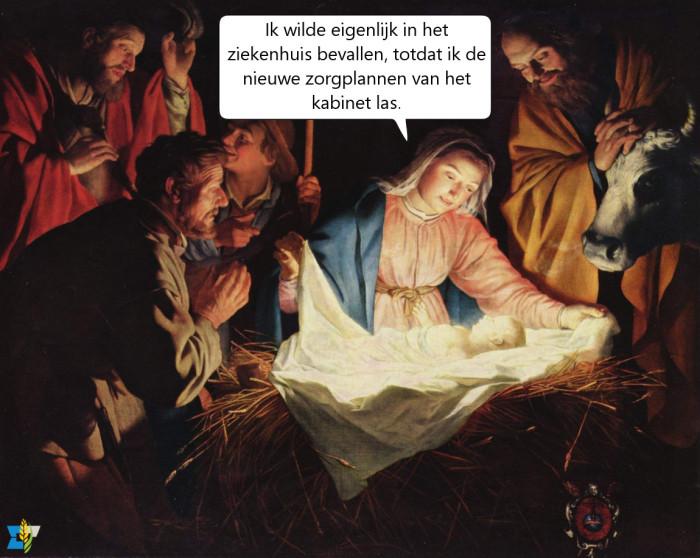 Ach ja, een stal leverde ook een mooi verhaal op. We wensen iedereen een zalig kerstfeest toe!