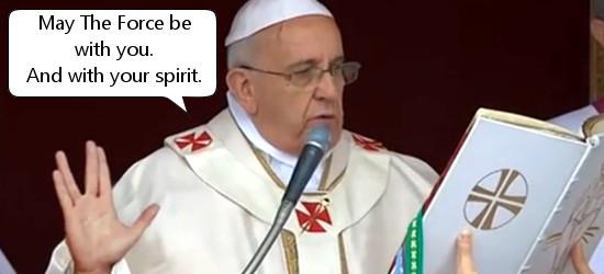 De paus heeft er duidelijk verstand van.