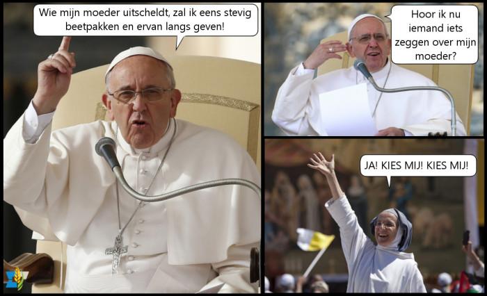Met de moeder van de paus valt niet te sollen.
