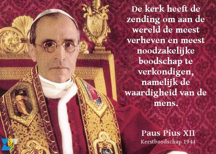 Paus Pius XII over de zending van de kerk.