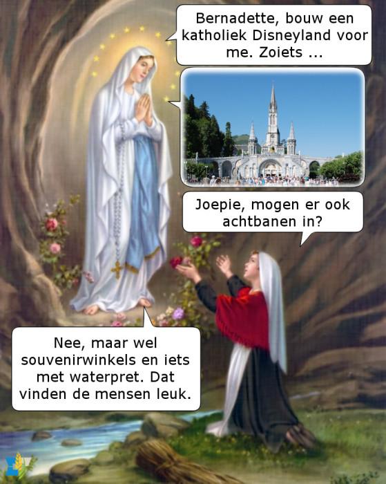 """""""Zonder de zieken zou Lourdes een katholiek Disneyland worden,"""" zei bisschop Jacques Perrier in 2008. Ik denk niet dat de Heilige Maagd dat voor ogen had."""