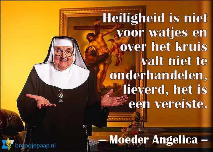 Moeder Angelica spreekt klare taal over heiligheid.