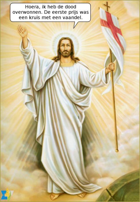 Christus is verrezen! Zalig Pasen,  lieve mensen.
