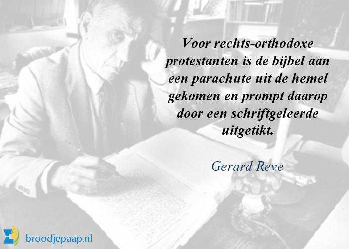 Gerard Reve over protestanten en de Bijbel.