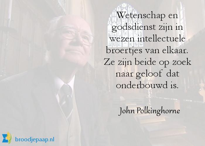 Anglicaans priester  John Polkinghorne over wetenschap en godsdienst.