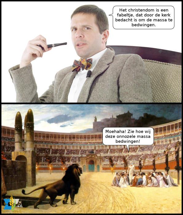Toch jammer dat de eerste christenen  zo overduidelijk uit waren op macht en aanzien.