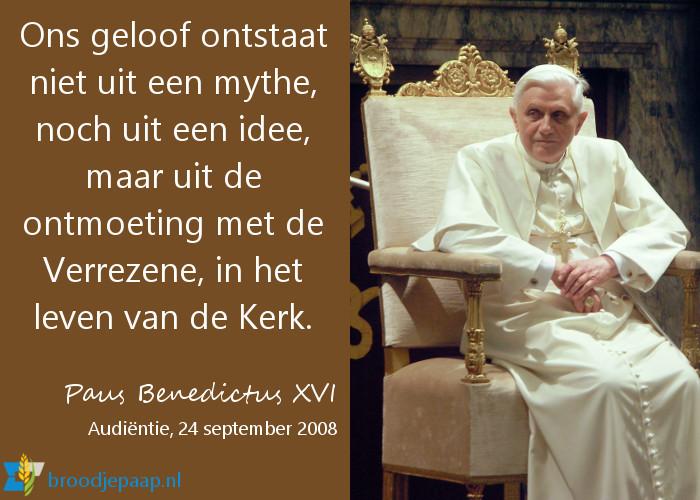 Benedictus XVI over het geloof.