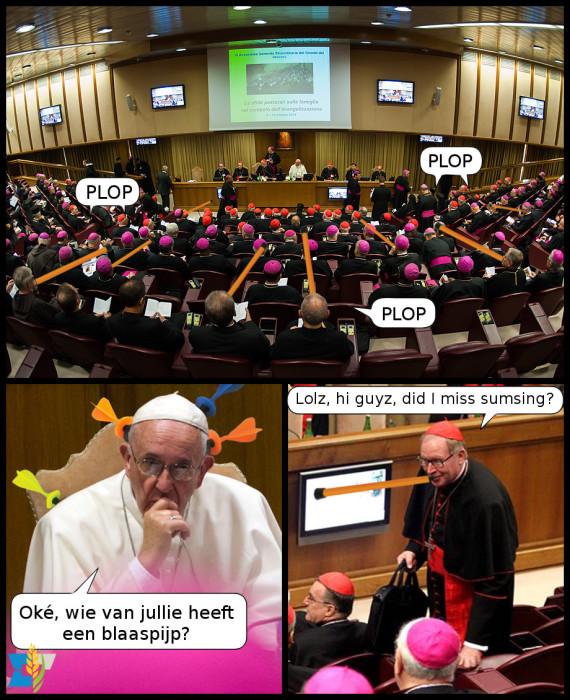 Dertien kardinalen nemen het op tegen de paus! Nee, wacht, elf kardinalen. Nee, negen! Ach whatever, het was Eijk.