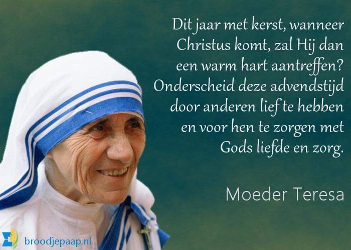 Moeder Teresa over de adventstijd.