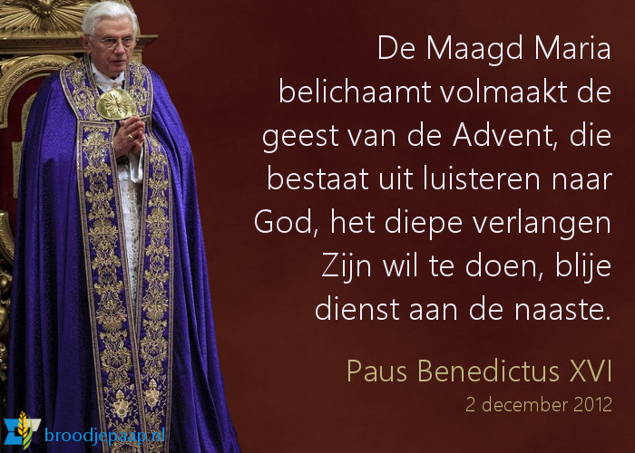 Paus Benedictus XVI over de Advent.