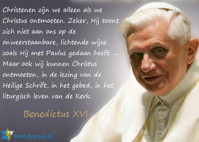 Benedictus XVI over de betekenis van de bekering van Paulus.