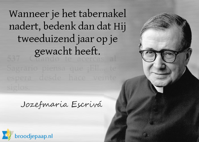 De heilige Jozefmaria Escrivá over de communie.