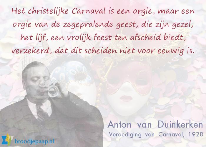 Anton van Duinkerken over carnaval.
