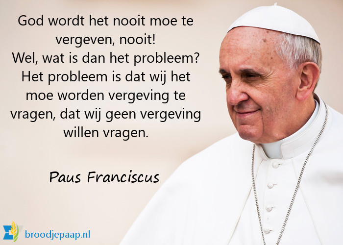 Paus Franciscus over vergeving.
