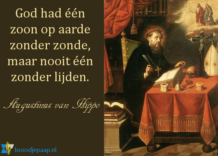Augustinus van Hippo over de zoon van God.