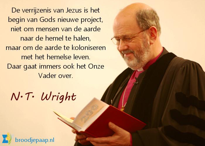 N.T. Wright over de verrijzenis van Jezus.