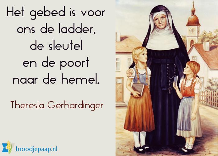 De zalige Theresia Gerhardinger over bidden.
