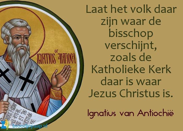 De heilige Ignatius van Antiochië over het belang van de bisschoppen.