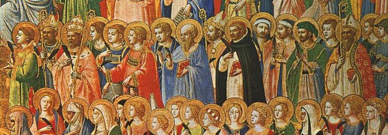 Alle heiligen door Fra Angelico