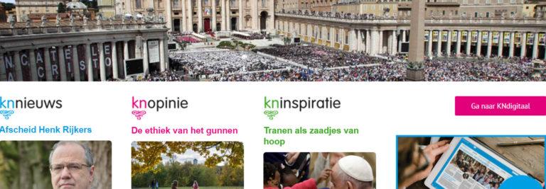 Screenshot van de website van Katholiek Nieuwsblad