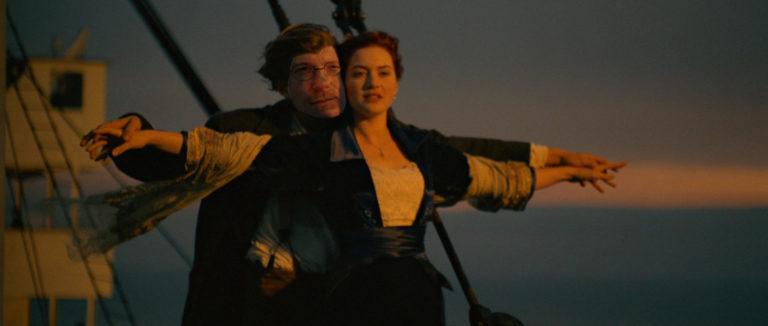 Anton de Wit op een schip met een wicht.