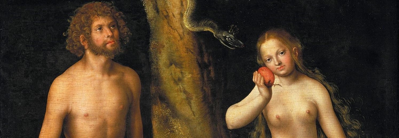 Adam en Eva door Lucas Cranach de Oude