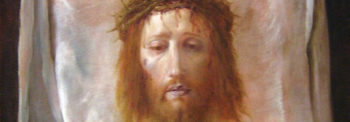 Jezus in doek van de heilige Veronica