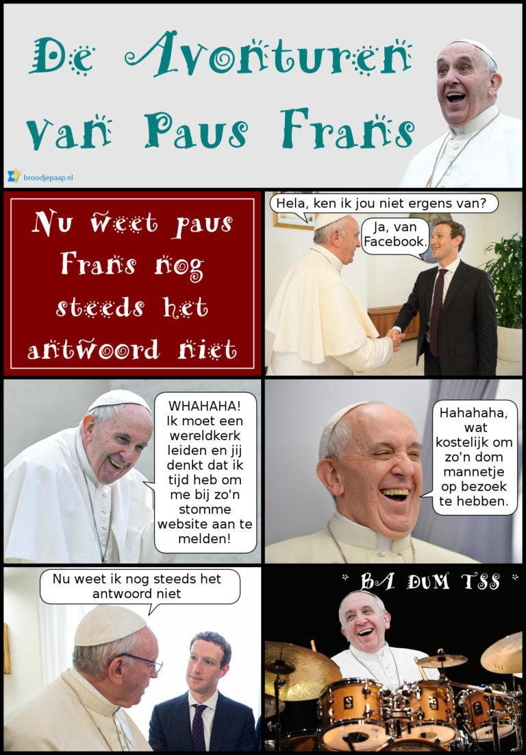 Paus Frans ontmoet Mark Zuckerberg.