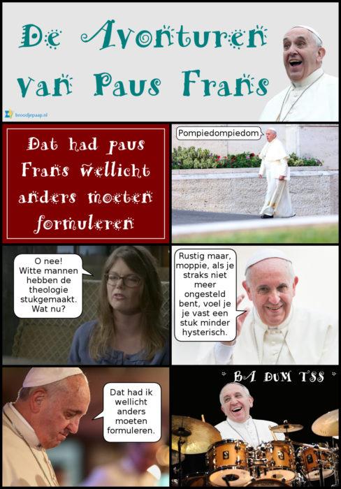 Janneke Stegeman ontmoet paus Frans